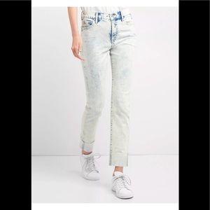 GAP sz 30 SLIM STRAIGHT high rise acid wash jeans